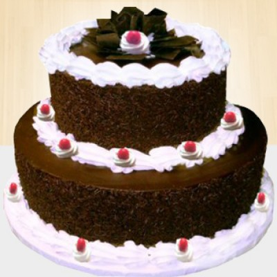 2 Tier Black Forest cake 3 KG