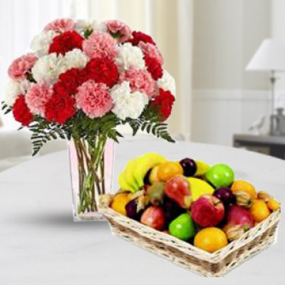 Fruits and Carnations