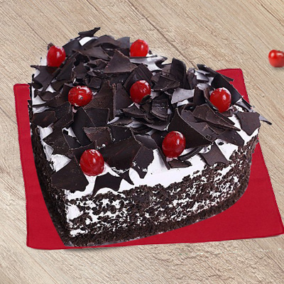 Heart-Shape Blackforest Cake
