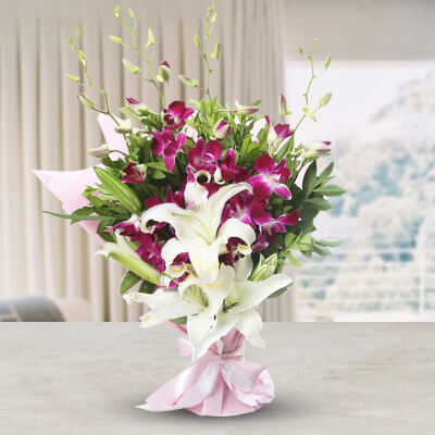 Orchids & Lilies Bunch