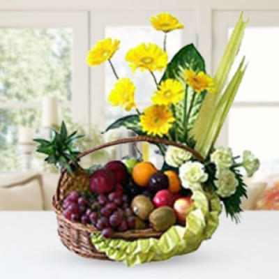Fruits & Yellow Flowers